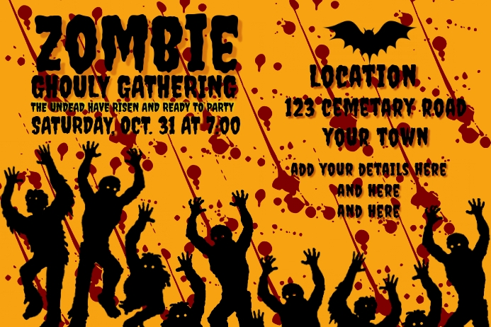 ZOMBIE GHOULY GATHERING BANNER