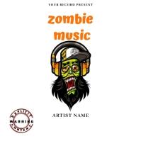 zombie music Hip Hop Mixtape/Album Cover Art template