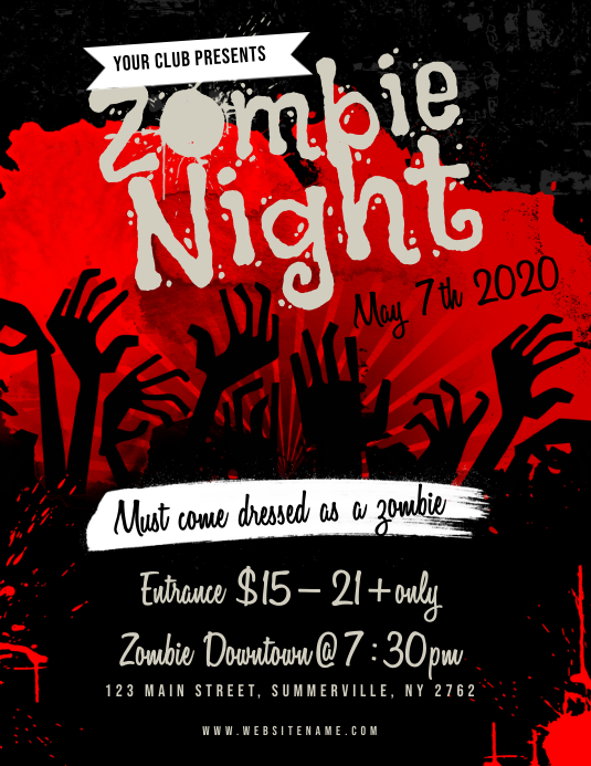 Zombie Night Flyer Template | PosterMyWall
