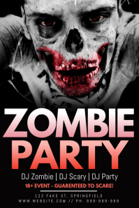 Zombie Party Poster template