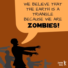 Zombie story zombies bubble speech meme joke