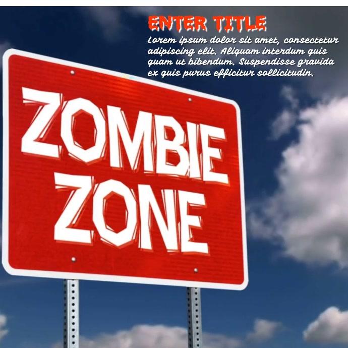 Zombie Zone Persegi (1:1) template