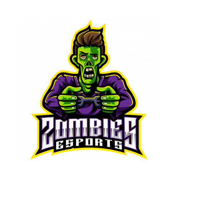 zombies gamer logo template