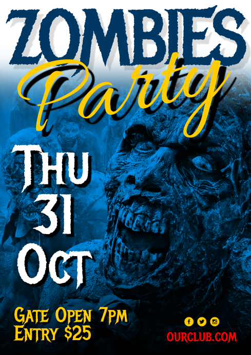 Zombies Party Poster
