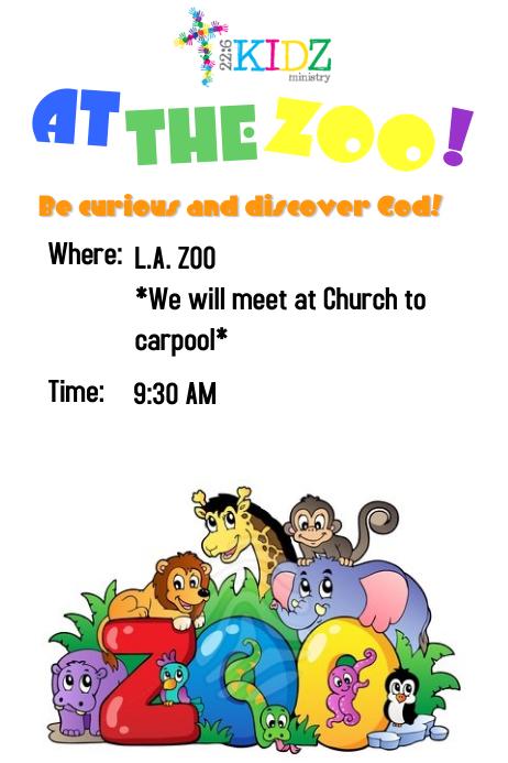 zoo flyers template