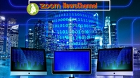 zoom background/news channel/media/virtual Twitch Banner template