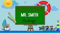 zoom background/school/education/escuela/kids Presentasi (16:9) template