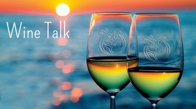 ZOOM Background Wine Talk Display digitale (16:9) template