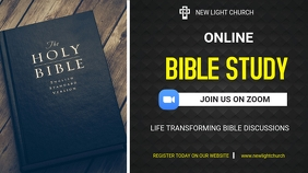 Zoom Bible Study Twitch Banner template