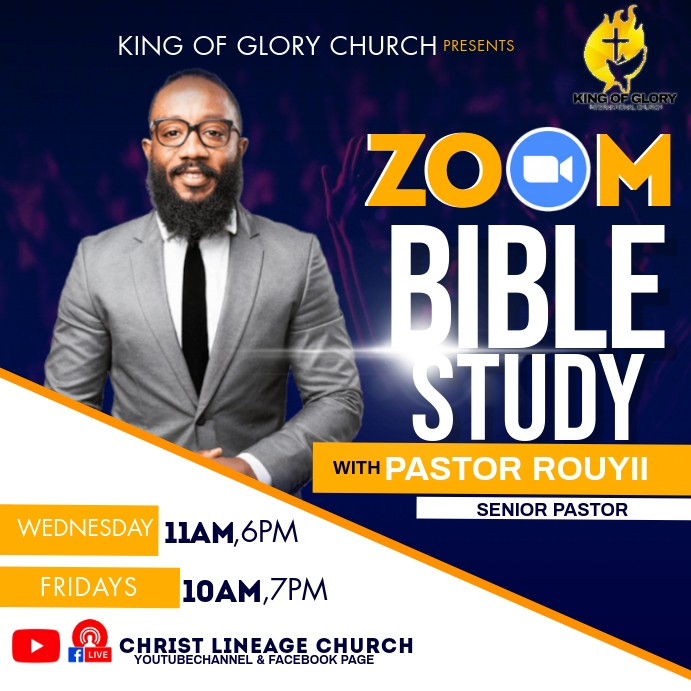 ZOOM BIBLE STUDY FLYER Instagram 帖子 template