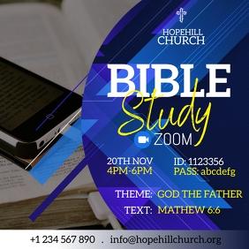 Zoom Bible Study Instagram Post Instagram-Beitrag template