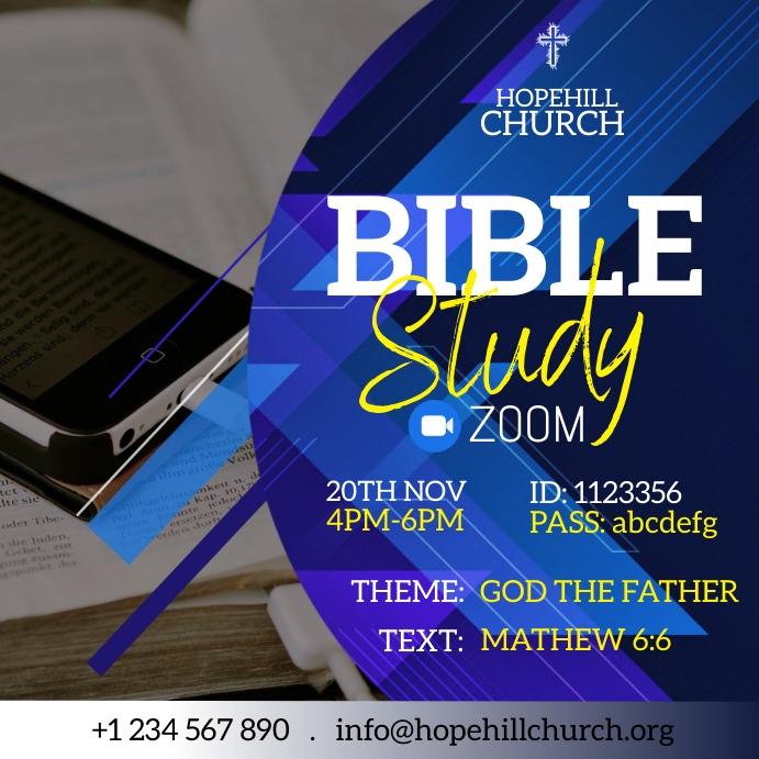 Zoom Bible Study Instagram Post template