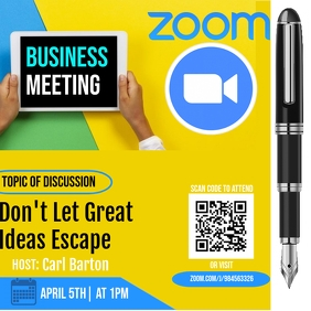 ZOOM BUSINESS MEETING