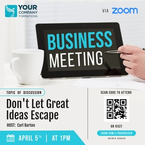 Zoom Business Meeting Instagram Image