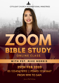 ZOOM church flyer A3 template