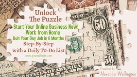 ZOOM How to Make Money Online Ekran reklamowy (16:9) template