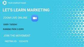 Zoom meetings Digital Display (16:9) template
