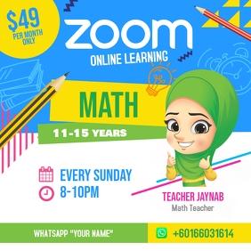 Zoom Online Classes Instagram Post