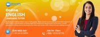 Zoom Online English Tutoring social media pos Facebook-Cover template