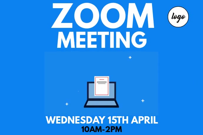Zoom Poster Template Plakkaat