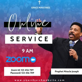 ZOOM SUNDAY SERVICE TEMPLATE Logo