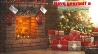 zoom video background/christmas/navidad/party Presentación (16:9) template