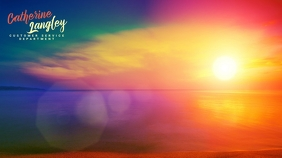 Zoom Virtual Background Sunset Template Digital Display (16:9)