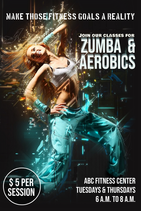 Zumba & Aerobics template