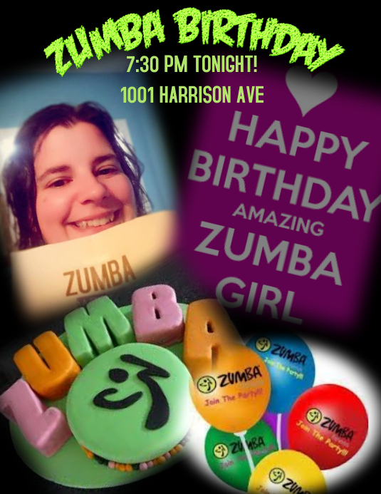 Zumba Birthday Template