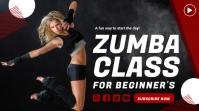Zumba class youtube fitness thumbnail design template