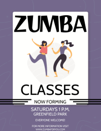 ZUMBA CLASSES Flyer (US Letter) template