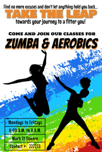 Zumba and aerobics Classes template Poster