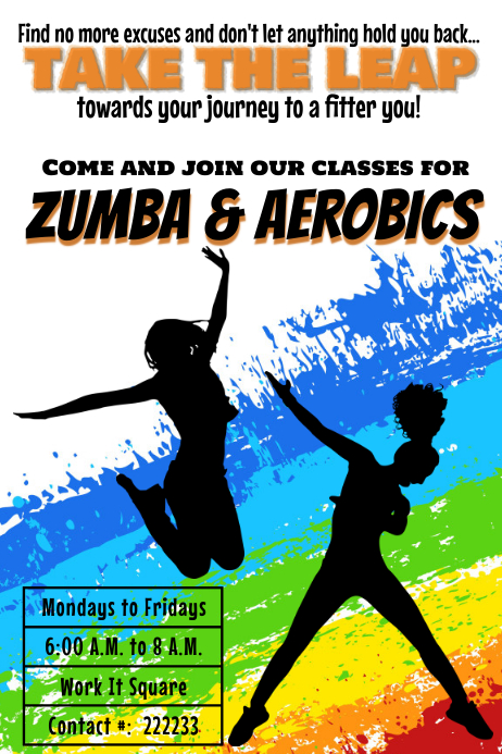 Zumba and aerobics Classes template