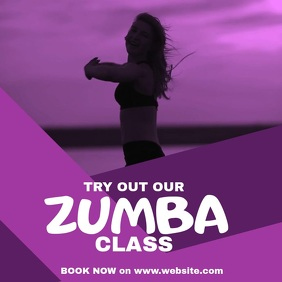 Zumba Dance Fitness Square (1:1) template