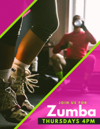 Zumba Flyer (US Letter) template