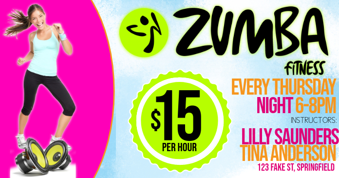 Zumba Facebook Event Cover Photo
