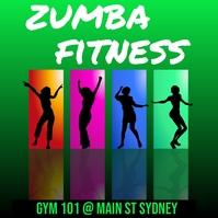 zumba fitness Wpis na Instagrama template