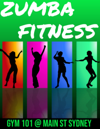 zumba fitness Flyer (US Letter) template