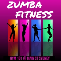 zumba fitness Instagram Post template