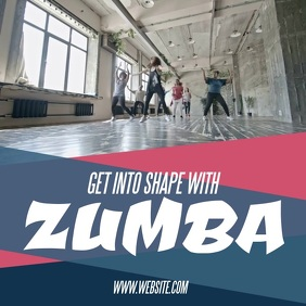 Zumba Fitness Square (1:1) template