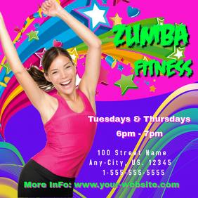 Zumba Fitness Intragram Header Instagram Post template