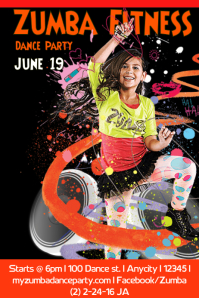 Customizable Design Templates For Zumba Postermywall