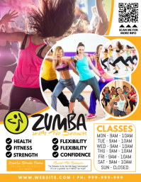 Zumba Fitness Poster Volante (Carta US) template