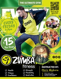 Zumba Fitness Poster ใบปลิว (US Letter) template