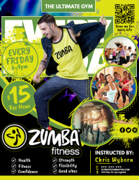 Zumba Fitness Poster Flyer (US-Letter) template