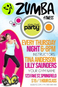 Zumba Fitness Poster template