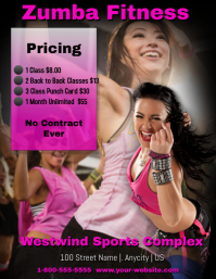 Zumba Fitness Pricing Template