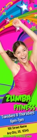Zumba Fitness Skyscaper Arranha-céu largo template