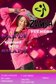 Customizable design templates for zumba postermywall zumba toneelgroepblik Gallery