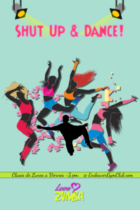 Zumba party/gym/fitness